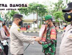 Gebyar Pendistribusian Bansos Darurat, Polres Sampang Lepas 5 Ton Beras