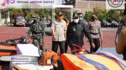 Bupati Sumenep Pimpin Apel Gelar Pasukan Antisipasi Bencana Alam Tahun 2021.