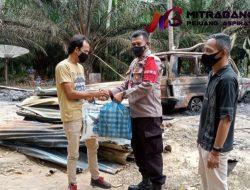 Kapolsek Simpang Keuramat Salurkan Bantuan Kepada Korban Kebakaran di Desa Meunasah Dayah