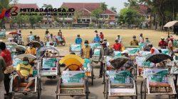 Sukseskan MTQ XXIX Tingkat Jawa Timur, Pemkab Pamekasan Salurkan Bantuan dan Branding Ratusan Becak